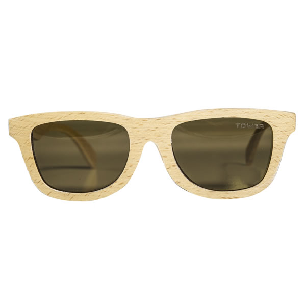 Wood Frame Sunglasses by Tower
