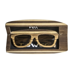 Wood Sunglass Case - Surf Style Wood sunglass case, surf style.